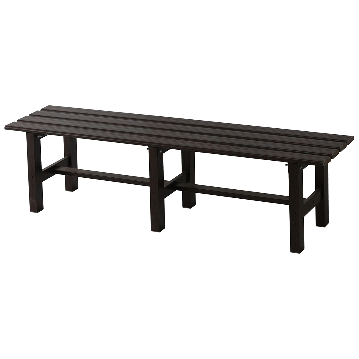 Picture of: Takasho Outdoor Bench Seat Dark Brown