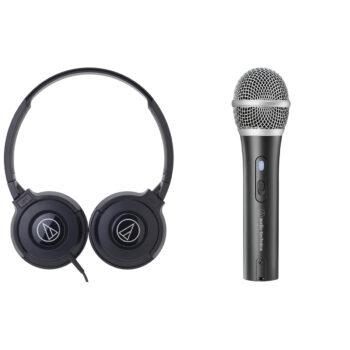 Audio-technica Headphone + USB Microphone Bundle ATR2100X/ATH-S100 image 1