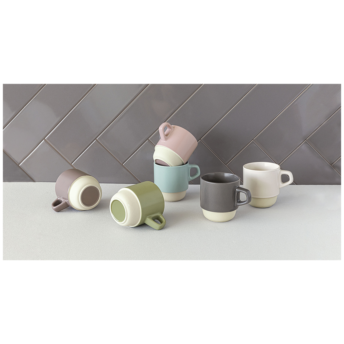 overandback Coffee Hub Stackable Mug Set 6pk image 2